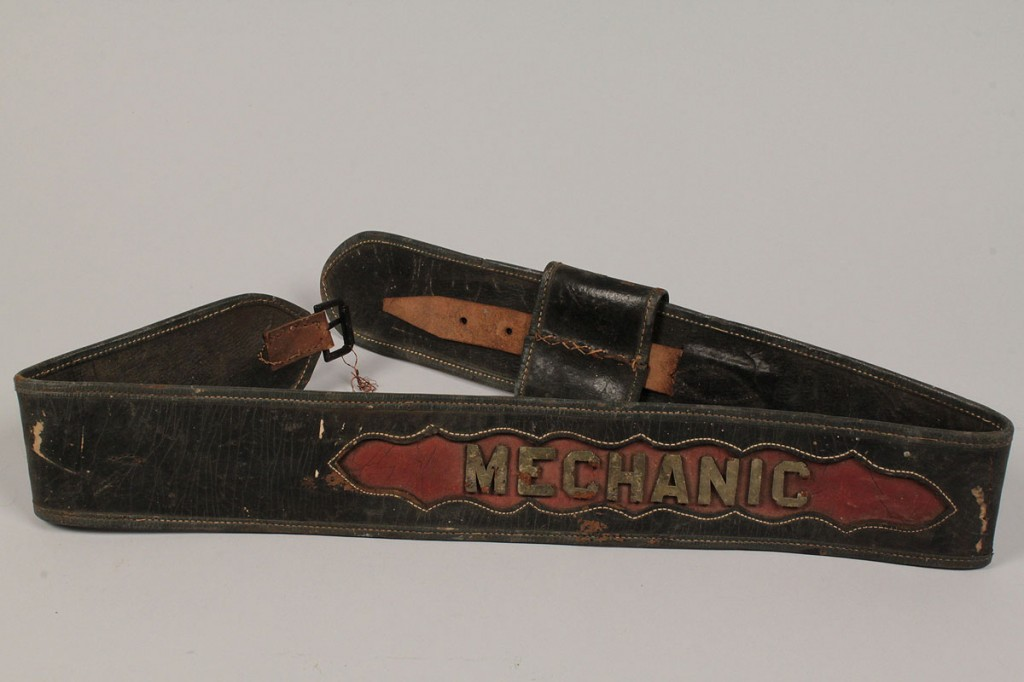 Lot 483: Lot of 3 Early Leather Fireman's Parade Belts