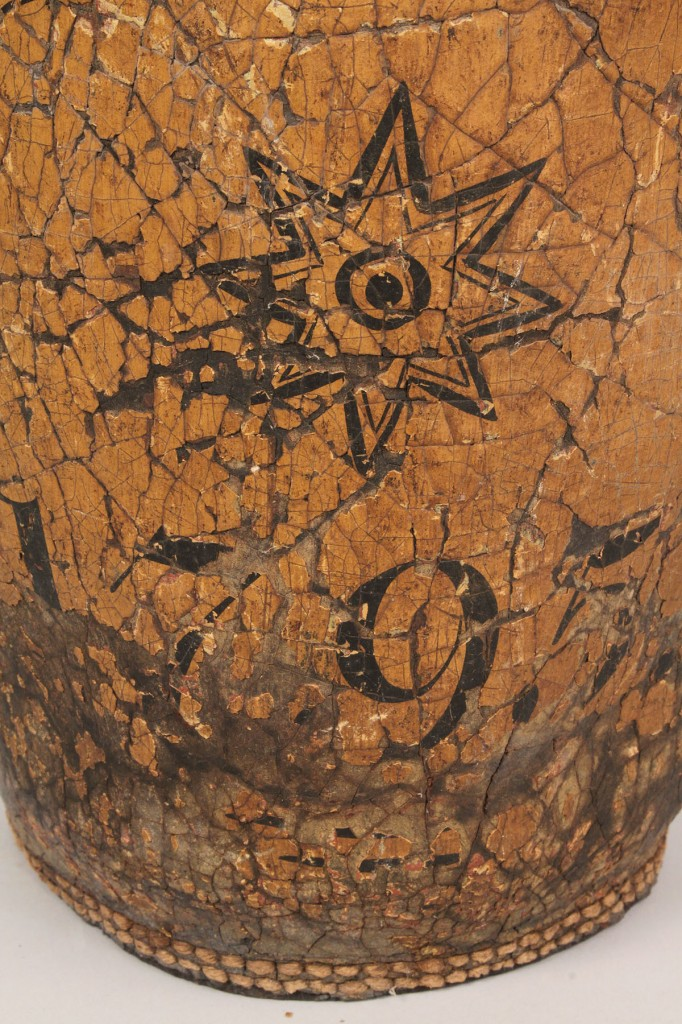Lot 485: 18th Century Painted Leather Fire Bucket