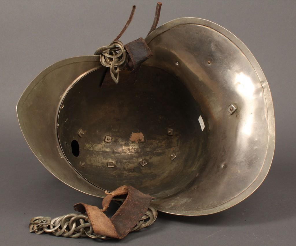 Lot 487: Chrome Eastern Hose Co. Ceremonial Fire Helmet