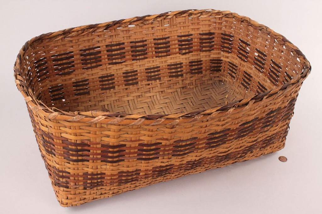 Lot 494:  Cherokee Rivercane Rectangular Basket