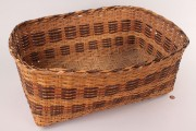 Lot 494:  Cherokee Rivercane Rectangular Basket