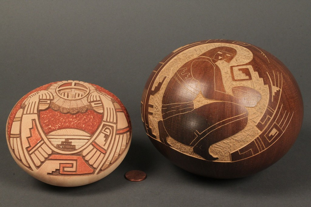 Lot 495: Lot of 2 Hopi Seed Pottery Jars