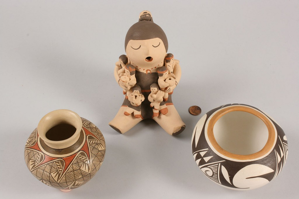 Lot 498: Collection of Southwest Indian items, 8 pcs.