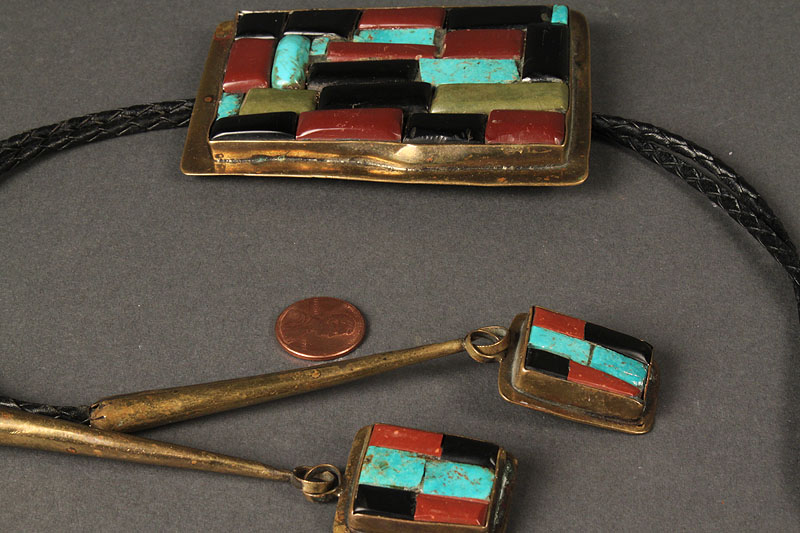 Lot 499: Large Western Cluster Bolo, Arts & Crafts