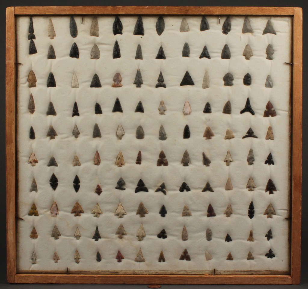 Lot 500: Collection of Native American Points, some Cahokia
