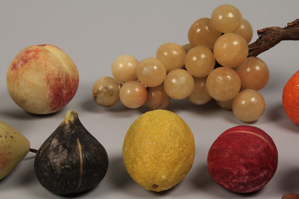 Lot 511:  Group of Stone Fruit with glass bowl