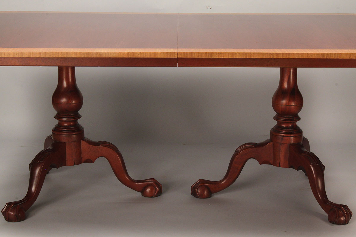 Lot 513 Baker Double Pedestal Dining Table