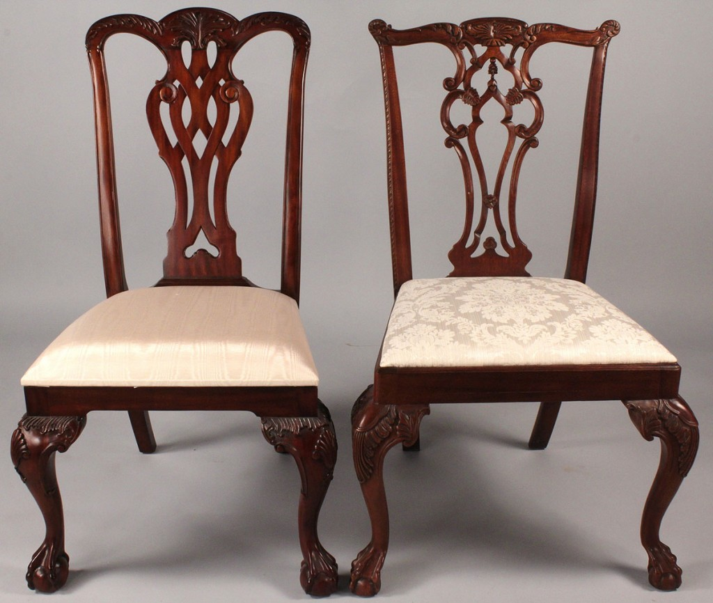 Lot 514: Assembled set 8 Dining Chairs, Hickory & Maitland Smith