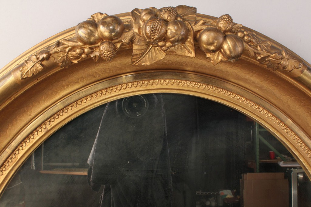 Lot 516: Gilt Carved Victorian Mirror