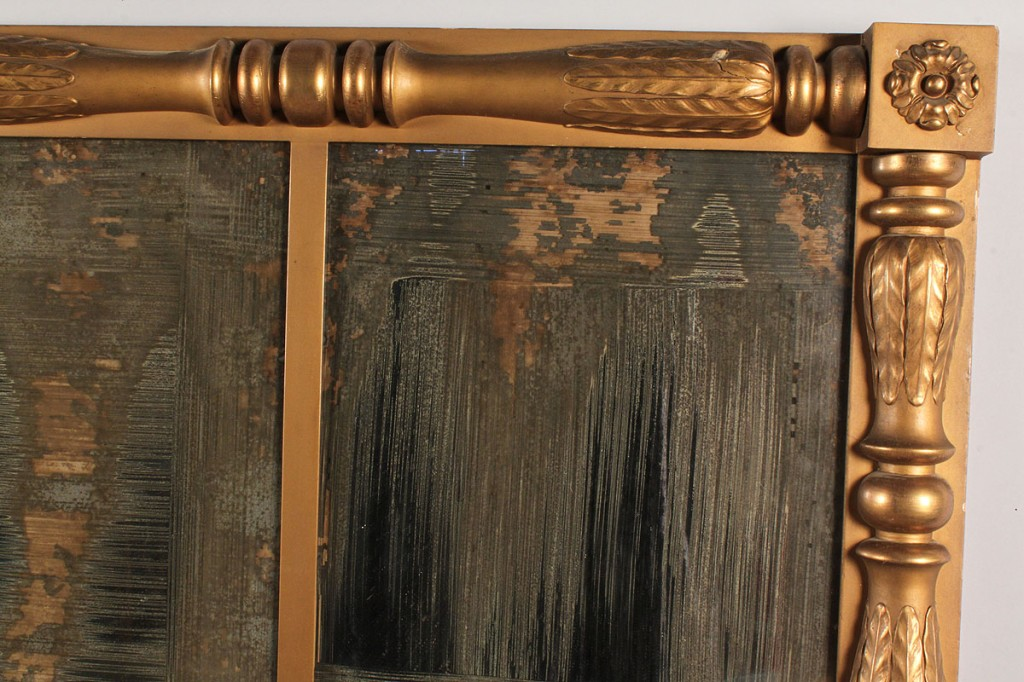Lot 517: Gilt Classical/Empire Overmantle Mirror