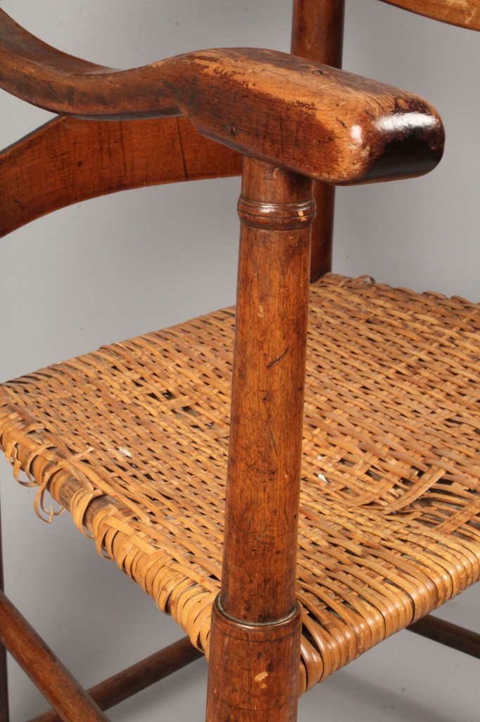Lot 518: East TN Ladderback Chair w/ Rivercane Seat
