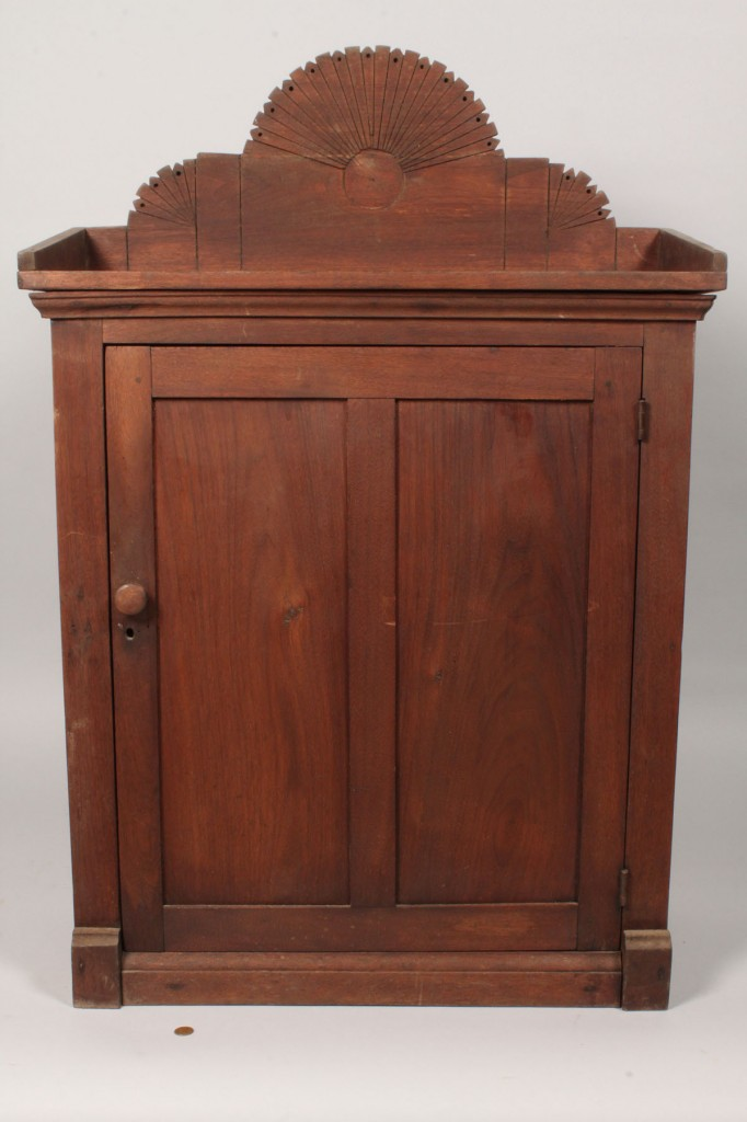 Lot 519: East Tennessee Walnut Hanging Cupboard