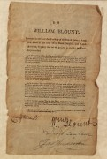 Lot 51: Wm. Blount signed document, 1793