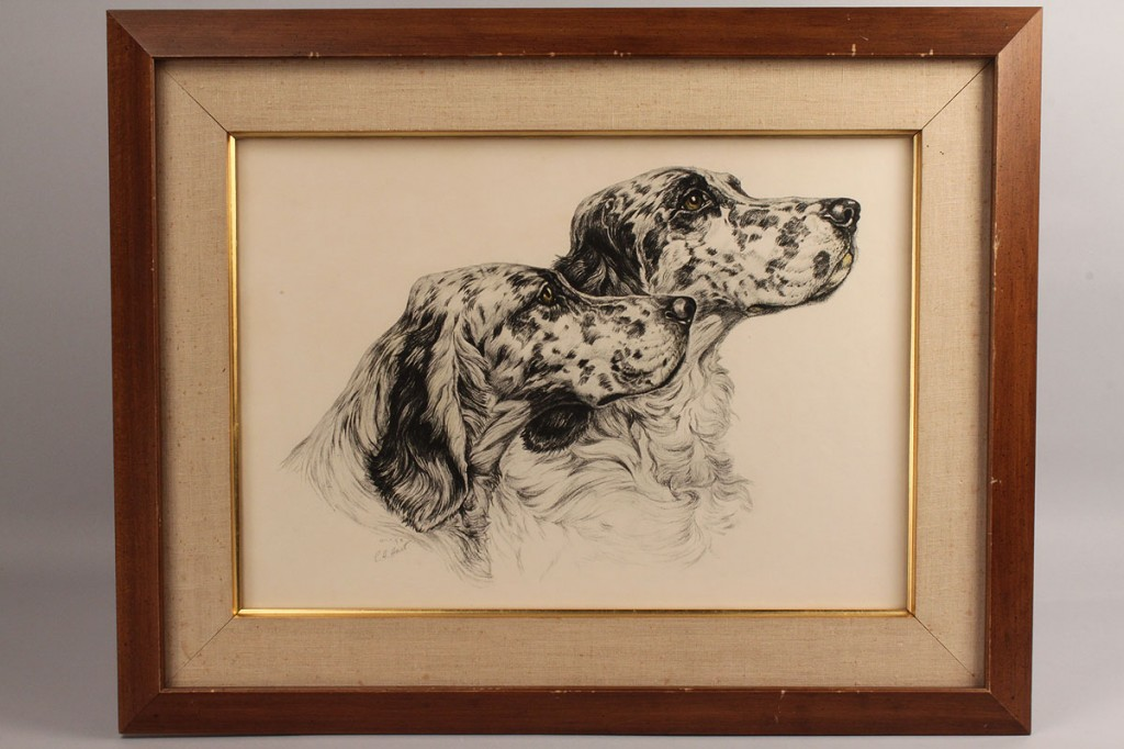 Lot 526: Lot of 2 E. H. Hart Lithographs of Hunting Dogs