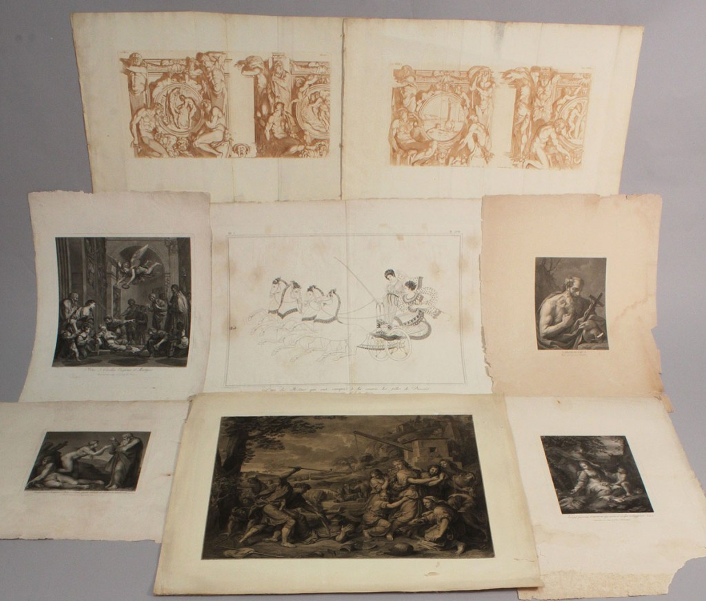 Lot 527: Lot of  European Engravings, 8 total