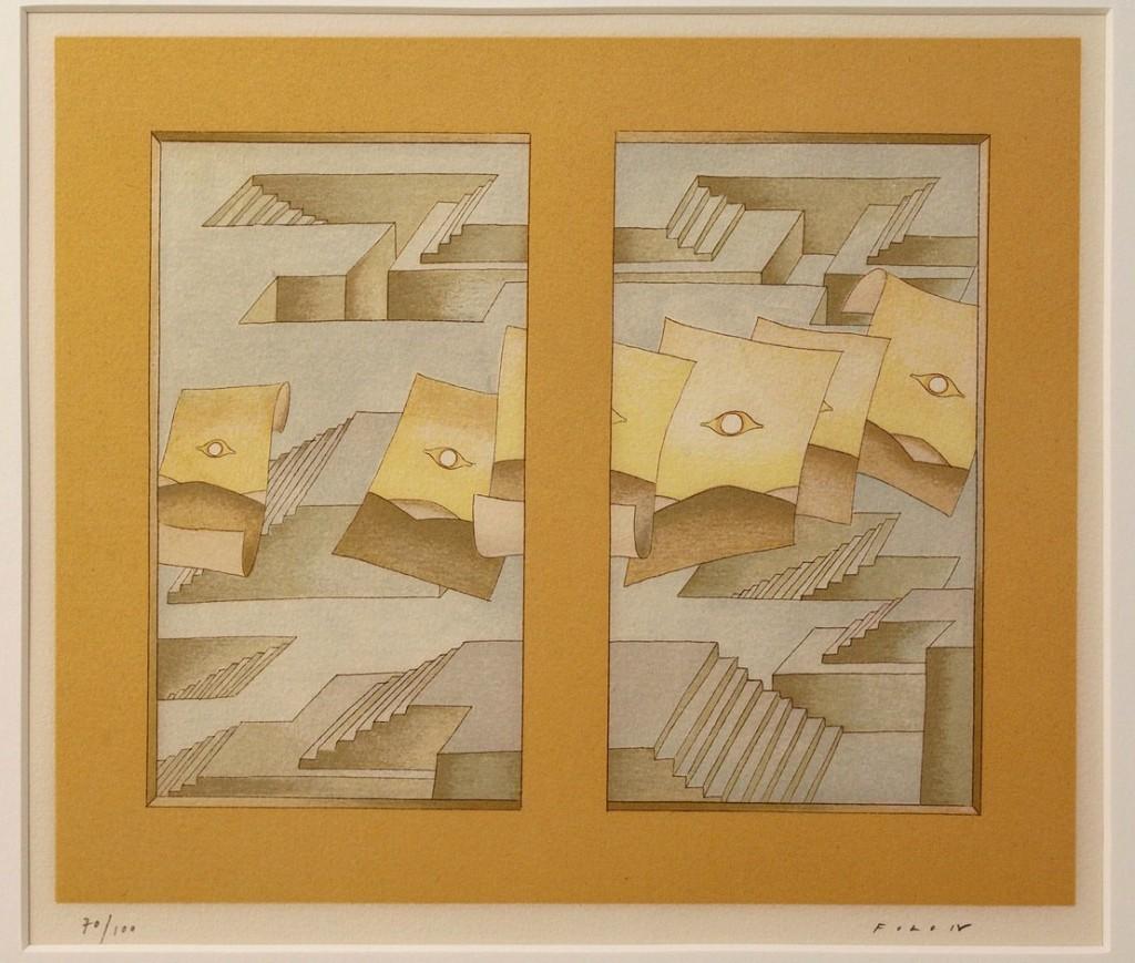 Lot 528: Jean Michel Folon Serigraph