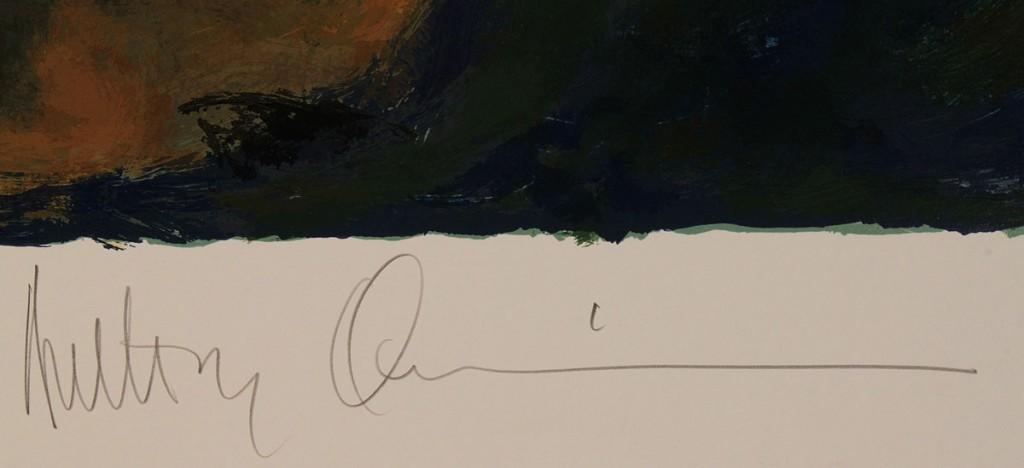 Lot 529: Anthony Quinn Self-Portrait Serigraph
