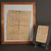 Lot 52: 1826 TN Governor Signed Document & Horse Dealer's Guide
