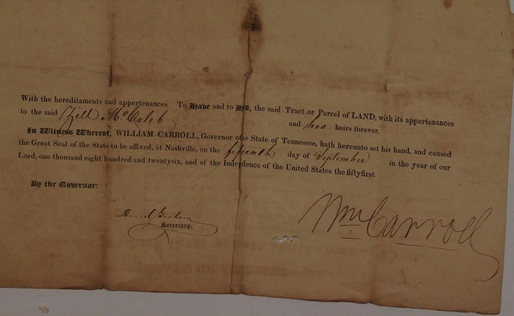 Lot 52: 1826 TN Governor Signed Document & Horse Dealer's Guide