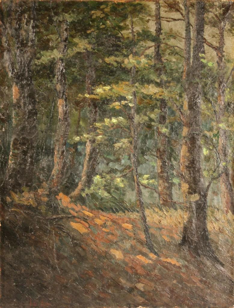Lot 534: Ivan Hoon, Oil on canvas landscape