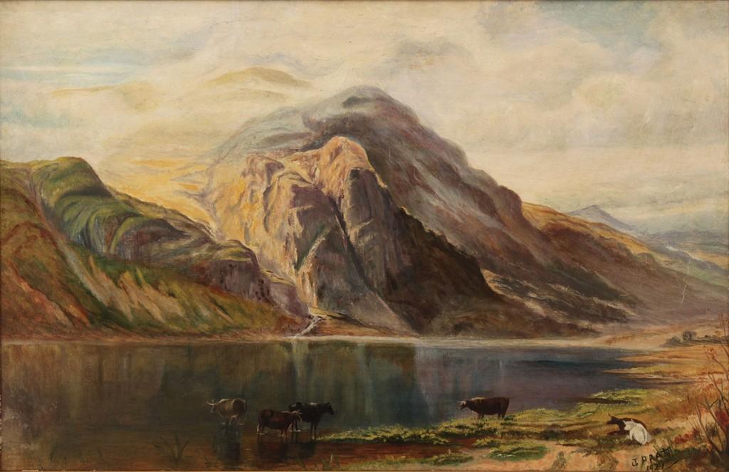 Lot 536: Lot of 2 Oil on Board Landscapes, pastoral scenes