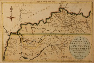 Lot 53: 1796 Tennessee Kentucky hand colored map