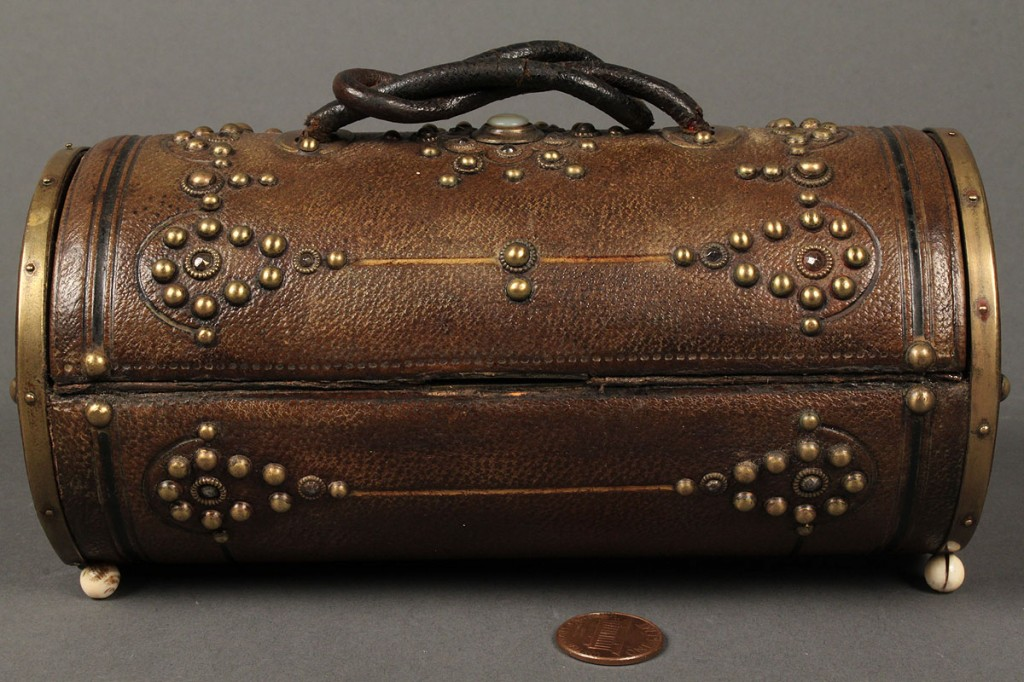 Lot 547: French leather sewing case
