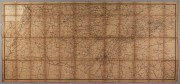 Lot 54: Folding Postal Route map of Tennessee, 1877