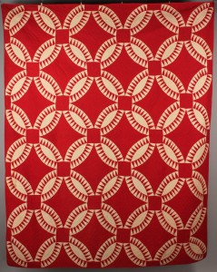Lot 556: East Tennessee Pieced Red & White Quilt