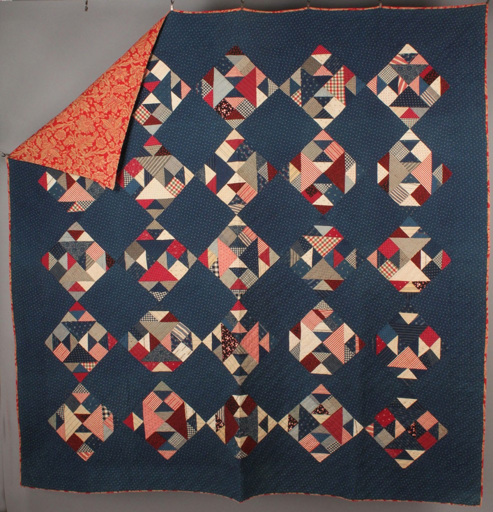 Lot 557: Lot of 2 East TN Pieced Quilts, Geometric Designs