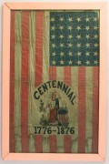 Lot 55: Framed U.S. Centennial Flag