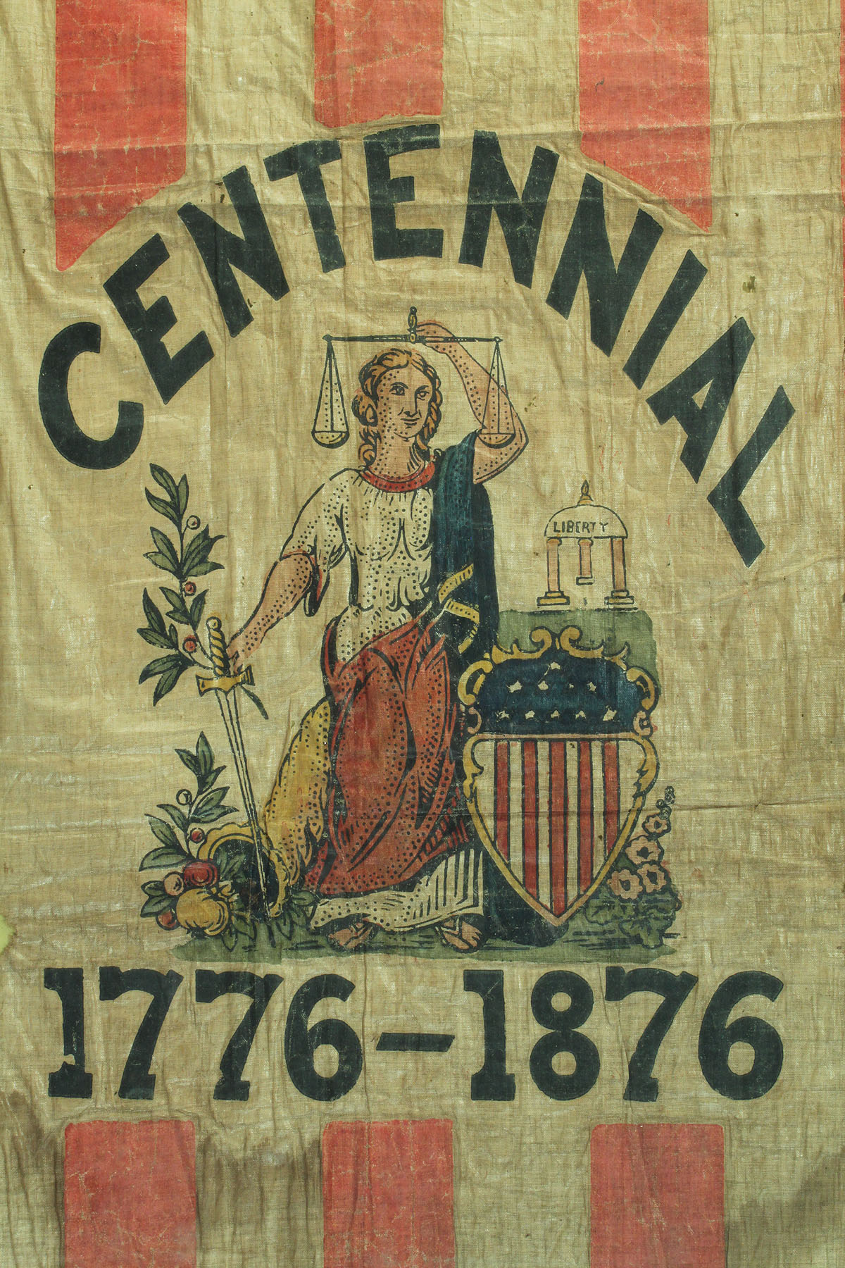 Lot 55 Framed U S Centennial Flag