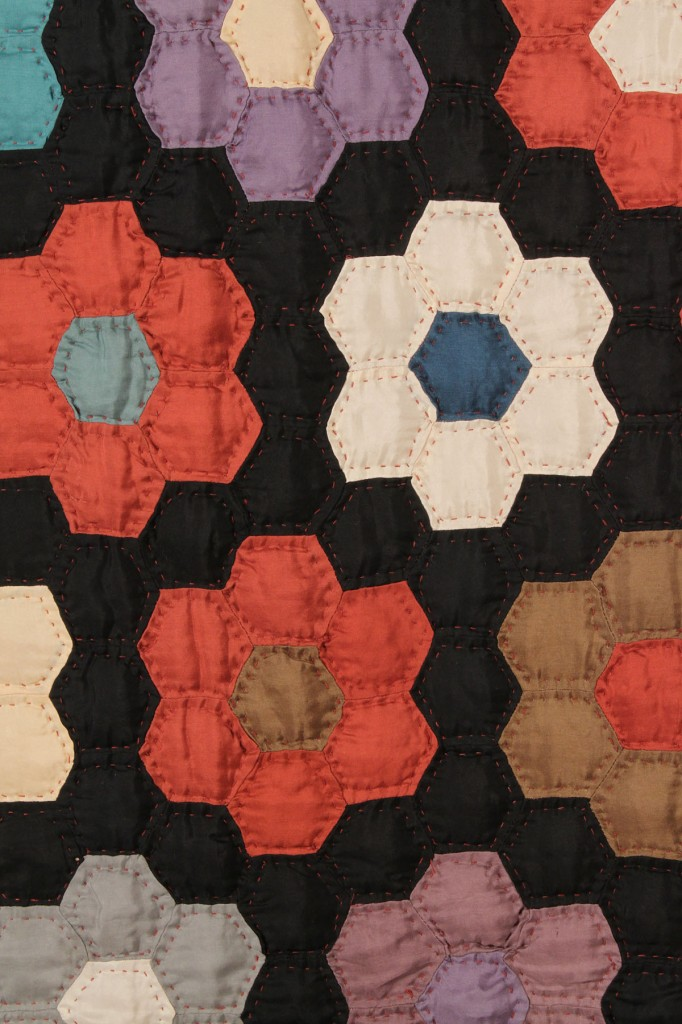 Lot 560: East TN Pieced Quilt, Grandmother's Flower Garden design