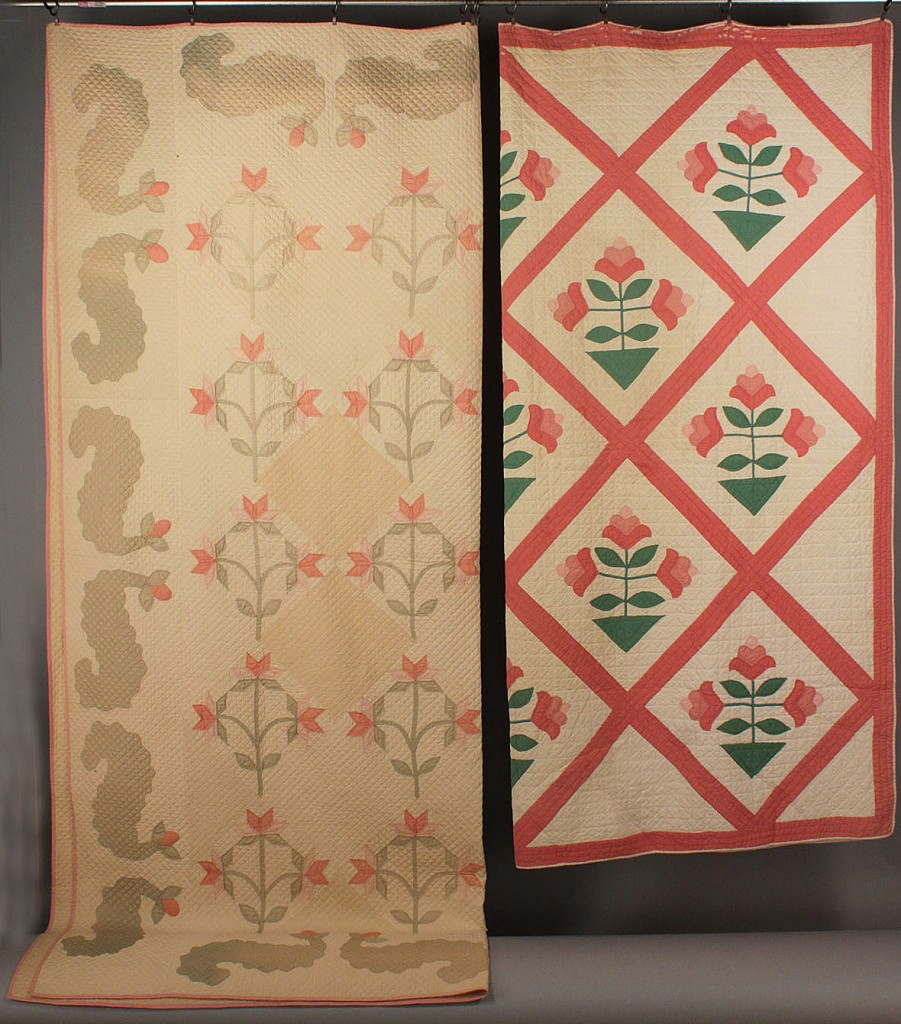 Lot 561: Lot of 2 Tennessee Pieced Floral Quilts