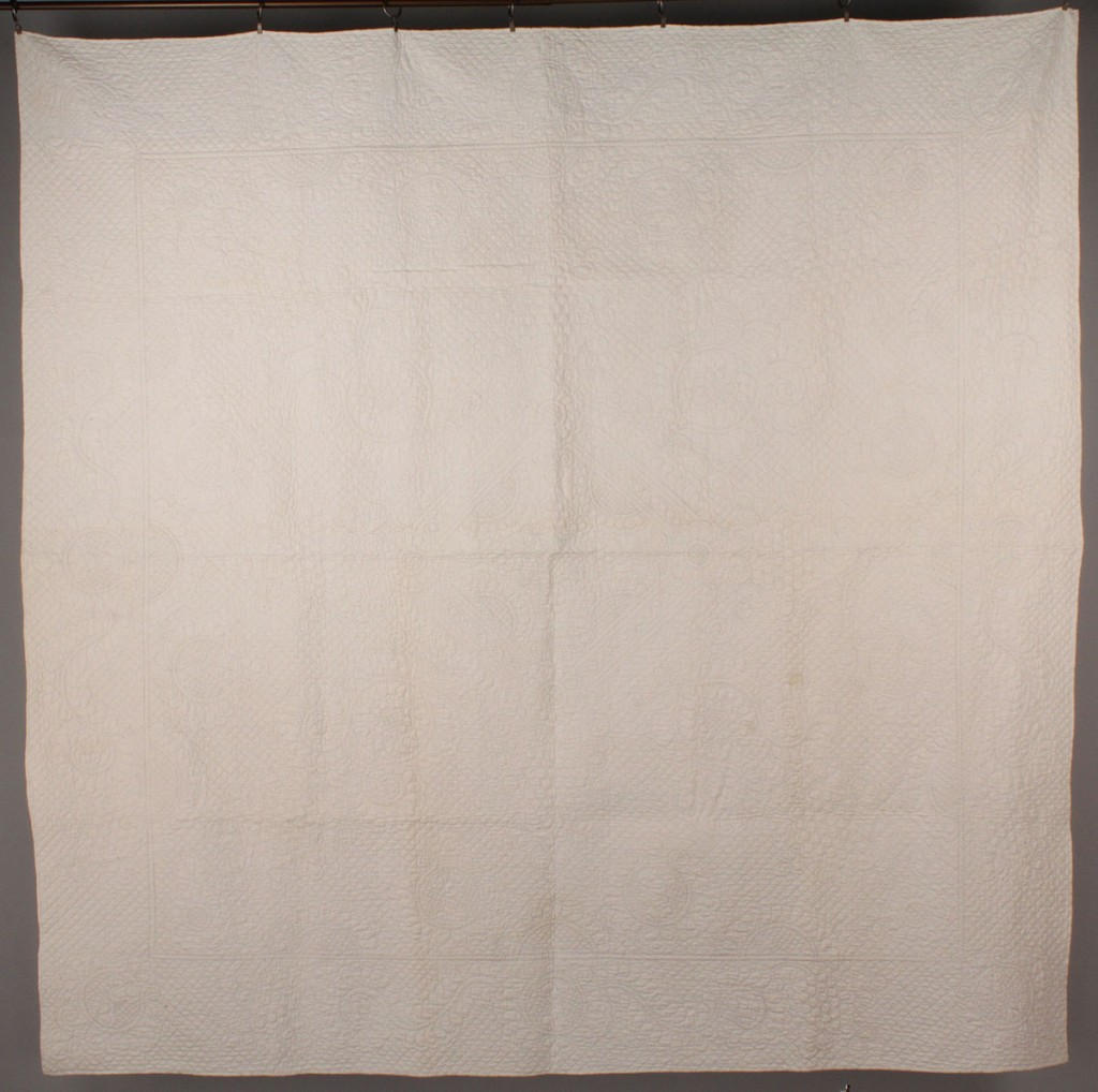 Lot 562: East TN  Whitework Quilt