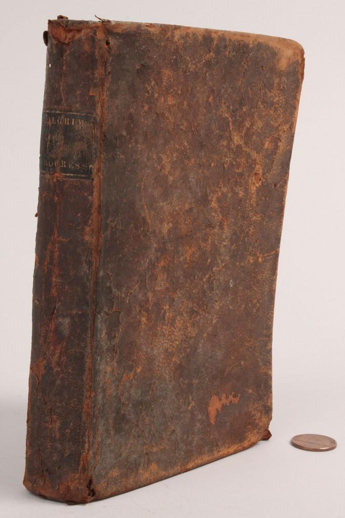 Lot 566: Lot of 3 19th century Books: incl. Scott's Bibles, Pligrim's Progress