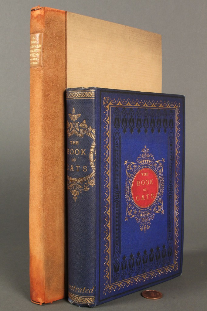 Lot 567: Lot of 2 Rare books: The Book of Cats & Shakespeare's Midsummer Night's Dream