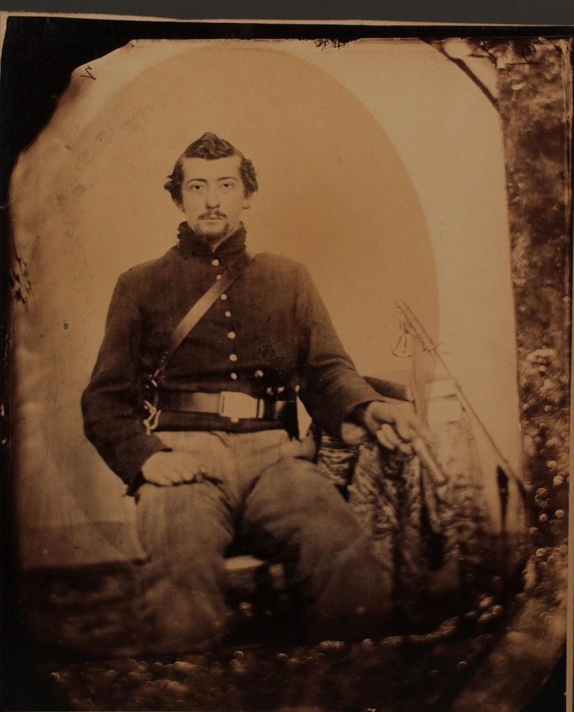 Lot 56: Albumen Image of Civil War Soldier