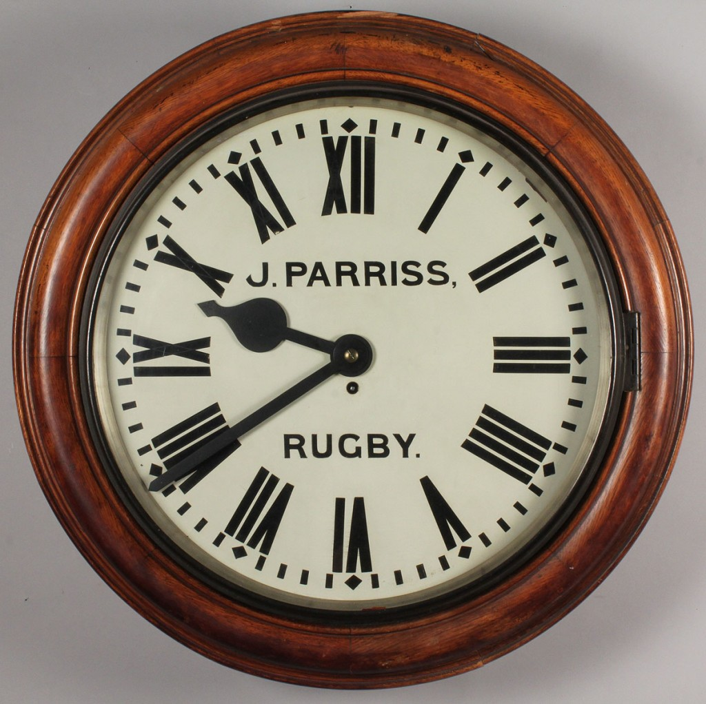 Lot 570: English 8-Day Fusee Gallery Clock