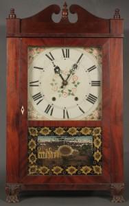 Lot 571: Empire/Late Classical Pillar & Scroll Clock