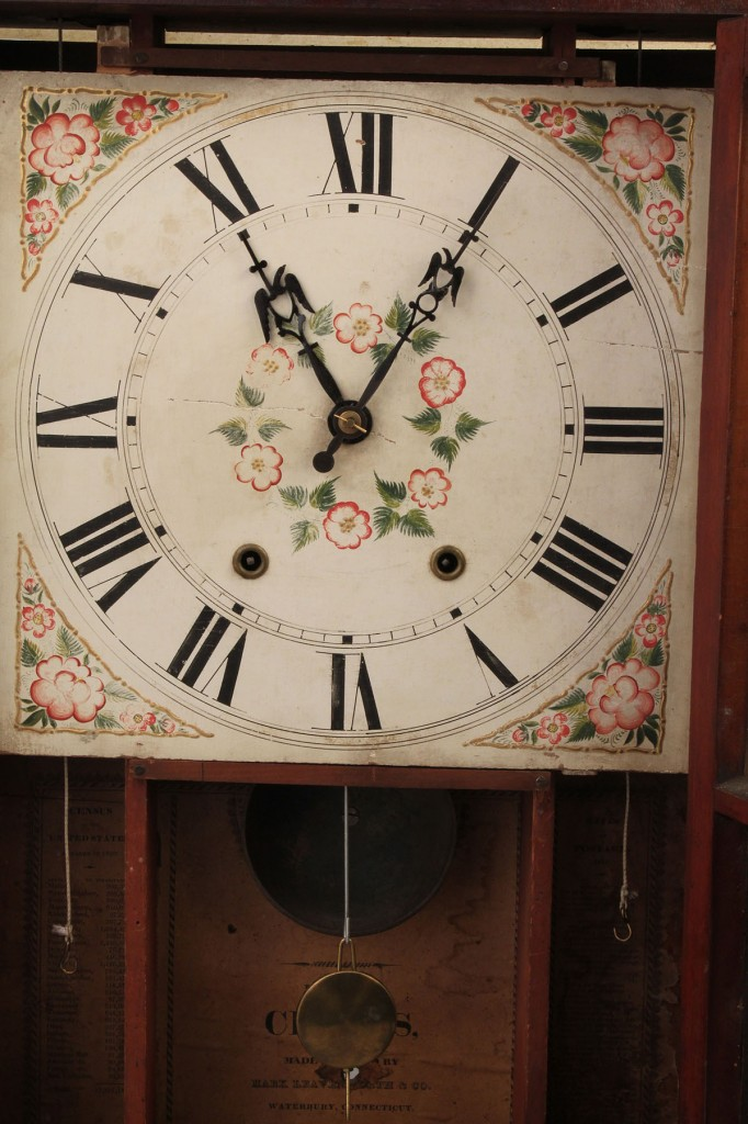 Lot 571: Empire/Late Classical Pillar & Scroll Clock