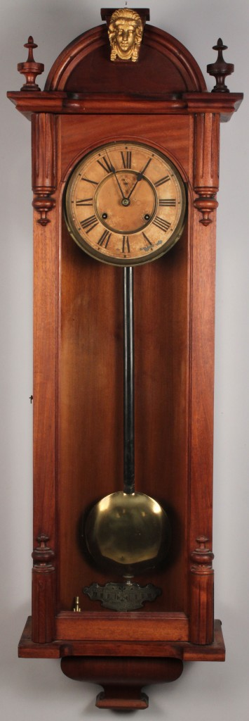 Lot 573: Ansonia Regulator No. 4 Clock, late 19th century