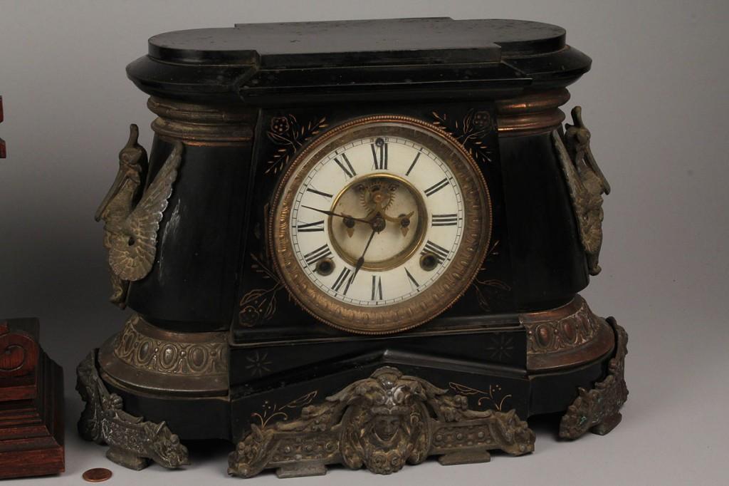 Lot 574: Lot of 2 Mantel Clocks, Ansonia & Seth Thomas