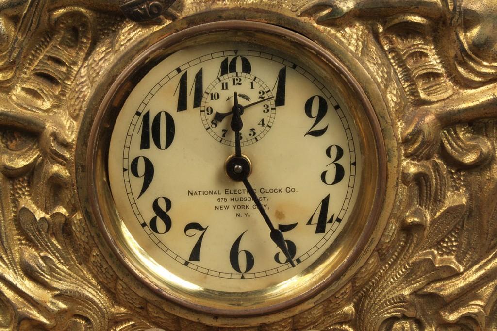 Lot 575: Lot of 3 Gilt Metal Clocks