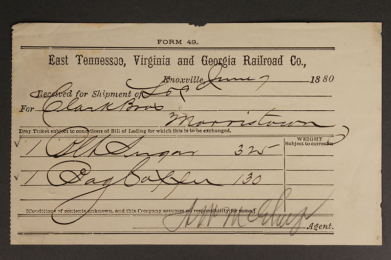 Lot 578: Lot of four 19th century railroad documents