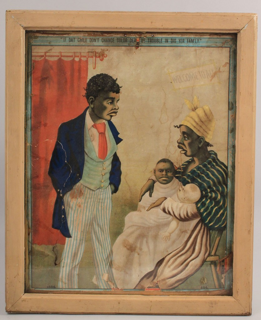 Lot 593: 1884 African American Print/Poster