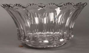 Lot 597: Signed Heisey Punch Bowl