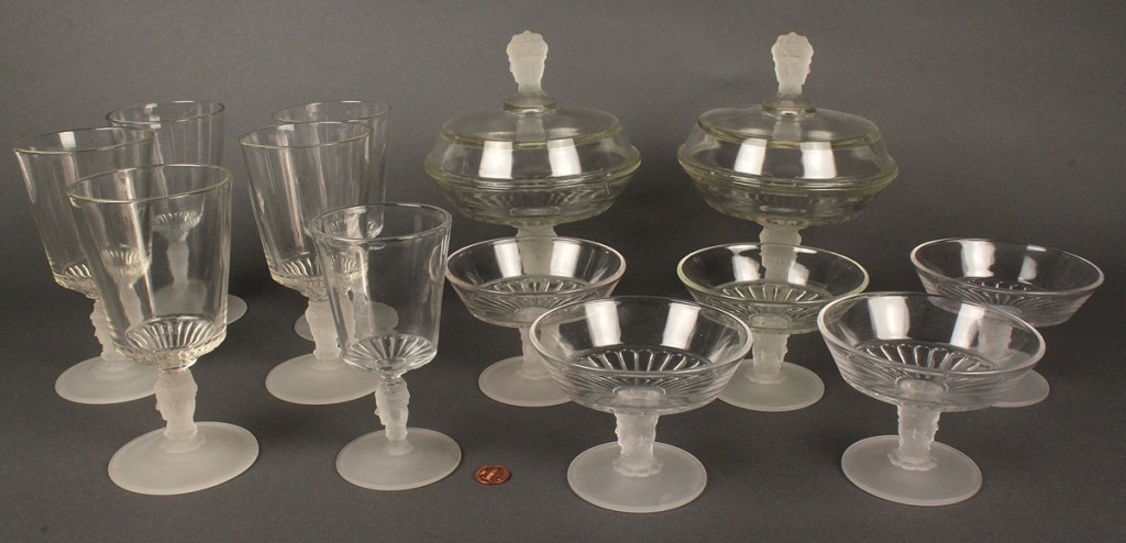 Lot 599: Ass'd Lot of  American Pressed Glass, 3 Faces, (13 pcs)