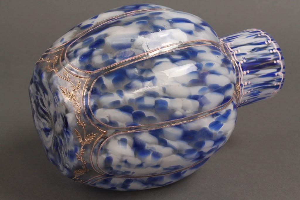 Lot 601: European Mottled  Glass Vase