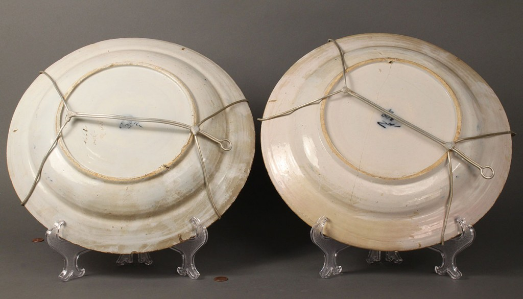 Lot 606: Pair of 18th Century Delft Chargers